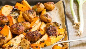 وصفة للأطفال كرات لحم الحبش مع البطاطا في الفرن