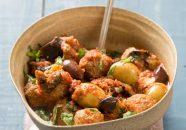 كرات اللحم بالزيتون والباذنجان على الطريقة الايطالية