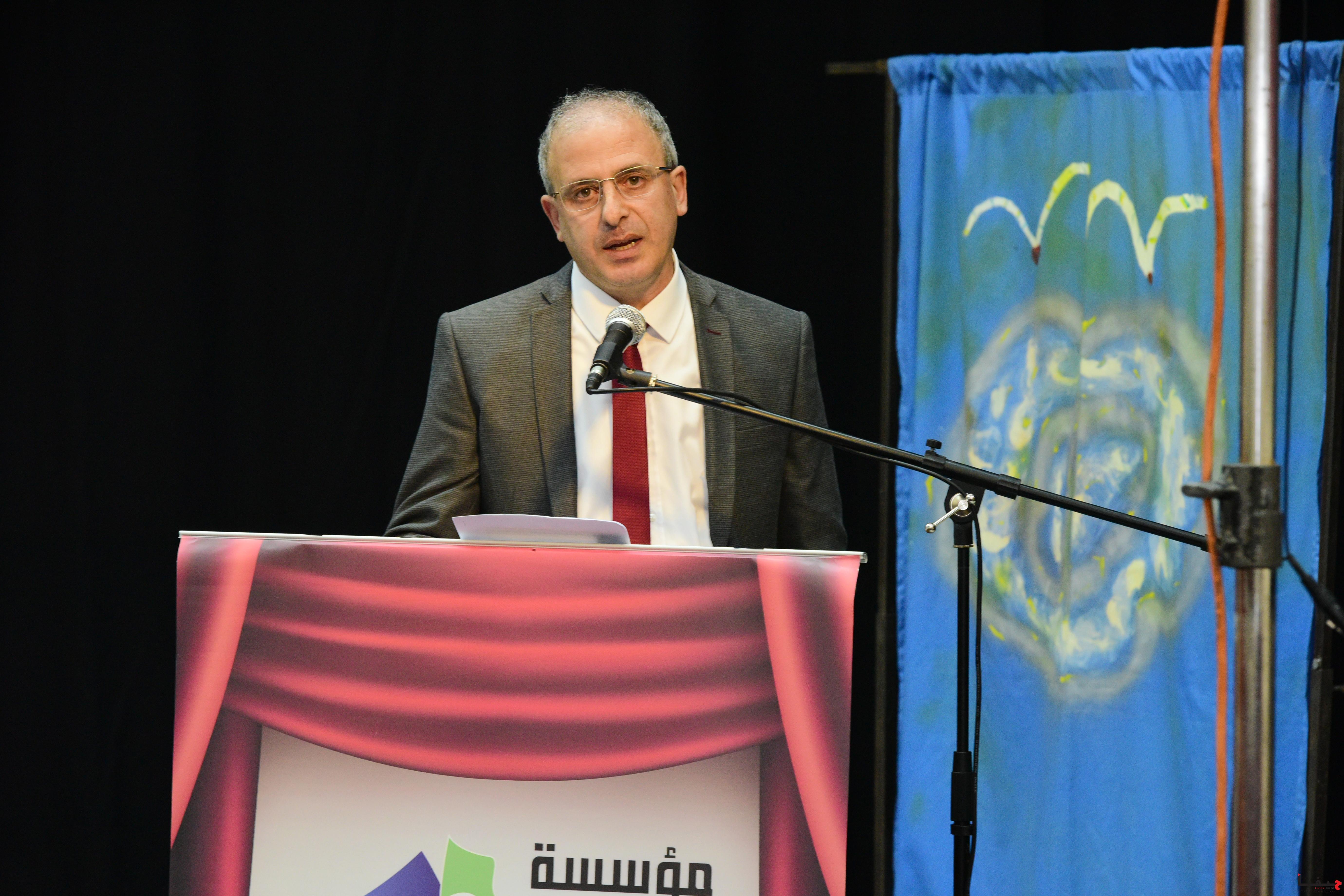 عفيف شليوط في حفل افتتاح مركز الأفق في شفاعمرو